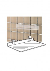 Clear Acrylic Gridwall Shelf Shoe Shelves