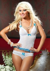 Seven Til Midnight 9487 Romance Mesh Cami And Panty