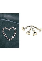 Demonia STUD-HEART, 1/4 Inch Heart Shaped Shoe Stud
