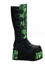 Men'S 4 1/2 Inch Platform Cyber Knee Boot With Interchangeable Panels