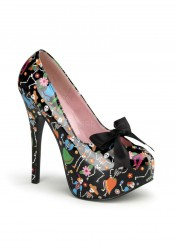 Pinup Couture TEEZE-12-4, 5 3/4 Inch Heel Pump With Satin Bow