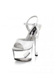 Pleaser TIPJAR 709-5, 6 3/4 Inch Platform Sandal With Tip Jar Feature And Ankle Strap