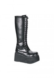 Men'S 3 1/4 Inch Platform 17 Eyelet Knee Boot