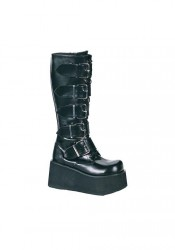 Men'S 3 1/4 Inch Platform 5 Buckle Knee Boot