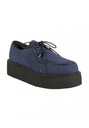 Men'S 2 Inch Platform Imitation Suede Vegetarian Creeper Shoe
