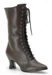 Women's 2 3/4 Inch Heel Lace-Up Victorian Calf Boot