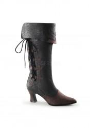 2 3/4 Inch Kitten Heel Mid-Calf Pull-On Boot