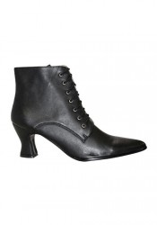 Women's 2 Inch Heel Lace-Up Victorian Ankle Boot