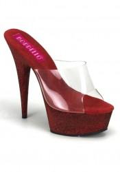 Women's 6 Inch Heel Glitter Platform Slide