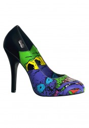 Women's 4 1/2 Inch Heel Pump With Demonia Reaper Print