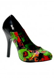 Women's 4 1/2 Inch Heel Pump With Demonia Full Moon Print