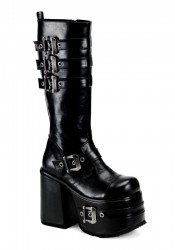 Men'S 5 1/2 Inch Heel Platform Buckled Knee Boot