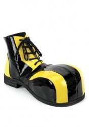 Oversized Two-Tone Clown Shoes. Men'S Size Shoe