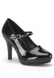 4 Inch Heel Wide Width Mary Jane Pump Women'S Size Shoe