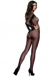 Amsterdam, Fishnet Long Sleeved Open Crotch Bodystocking