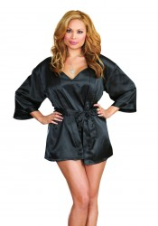 Plus Size Timeless Beauty Satin Babydoll And Robe Set