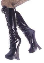 8 Inch Block Heel, 1 1/4 Inch Platform Boots