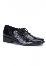 Men'S Alligator Patent Lace-Up Shoe