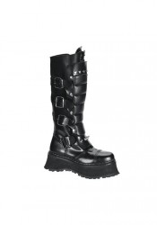 Men's/Unisex Buckled Steel Toe Warrior Boots