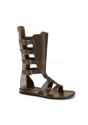 Funtasma SPARTAN-105, Men's 4 Buckle Strap Calf High Gladiator Sandal