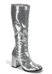 Bordello SPECTACULAR-300SQ, 3 Inch Block Heel Sequined Knee Boot