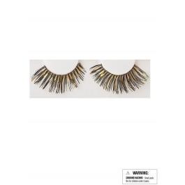 Eyelashes - Black/Gold