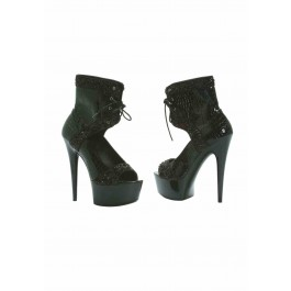 6 Inch Multi Buckle Quilted Stiletto With 2 Inch Platform