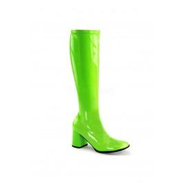3 Inch Heel, Knee High Boot, Full Inner Side Zipper.