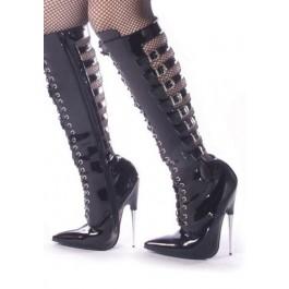 6 Inch Metal Heel Knee Hi Boots