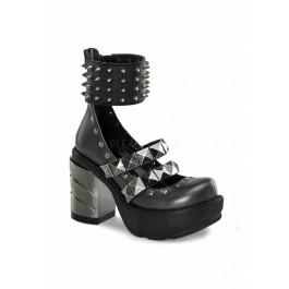 3 1/2 Inch Chromed ABS Heel, 1 1/2 Inch Moulded Pu Platform Shoe