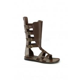 Funtasma SPARTAN-105, Men's 4 Buckle Strap Calf High Gladiator Sandal