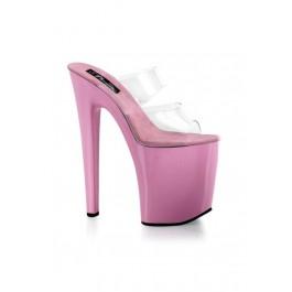 Women's 8 Inch Heel Dual Strap Platform Mule
