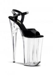 10 Inch Heel, 6 1/4 Inch PF Ankle Strap Sandal