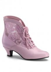 2 Inch Heel Victorian Ankle Boot Women'S Size Shoe