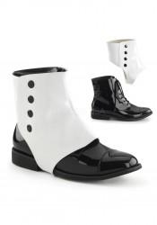 1 Inch Flat Heel Men's Boot With Detachable Shaft And Inner Zip