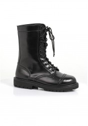 1 Inch Ankle Women's Combat Boot With Laces.