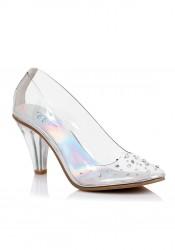 2 Inch Heel Clear Slipper