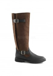 1 1/2 Inch Heel Men's Pull-On Knee High Boot With Expandable Shaft