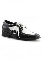 1 Inch Flat Heel, Men's Spectator Oxford Shoe
