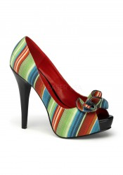 Pinup Couture LOLITA-12, 5 1/2 Inch Heel Open Toe Pump