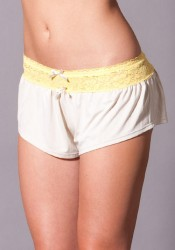 B Natural Lounge Shorts With Lace Waistband Trim