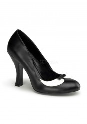 Pinup Couture SMITTEN-05, 4 Inch Heel Two Tone Pump With Peter Pan Collar
