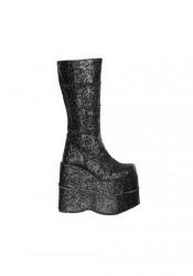 Men'S 7 Inch Heel Glitter Knee Boot